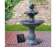 Gorgeous Classic SOLAR Powered 3 Tier Birdbath Water Fountain Garden Feature