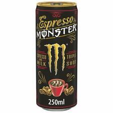 Espresso Monster Drink Espresso Milk Energy Einweg 11x 250ml MHD 04/21 Pfandfrei