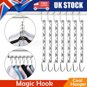 1/10x Space Saver Saving Wonder Metal Magic Hanger Clothes Closet Organize Hook