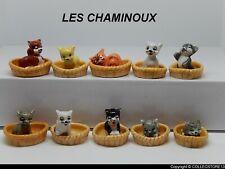 SERIE COMPLETE DE FEVES LES CHAMINOUX- LES CHATONS PANIERS -LES CHATS