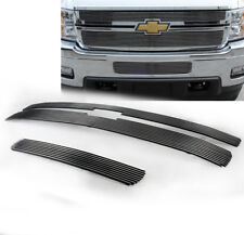 2011 2012 SILVERADO 2500/3500 HD UPPER + LOWER BUMPER BILLET GRILLE GRILL INSERT