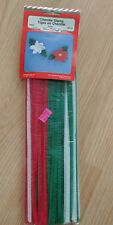 65 piece Christmas 6 mm Pipe Cleaners Chenille Stems - Red Green White
