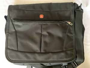 Swiss Gear 8869 Laptop Messenger Travel Bag- Black