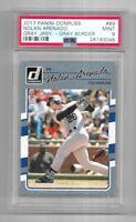 Nolan Arenado Panini PSA 9 Mint 109/199 Gray Jersey Gray Border Baseball Card