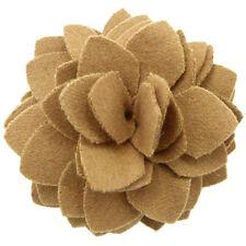 Pince à cheveux bibi broche fleur feutrine soirée cérémonie mariage marron beige