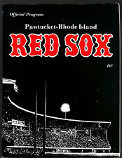 1975 Pawtucket Red Sox Official Program Insert Included