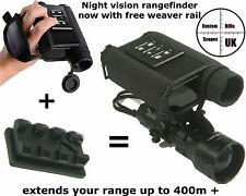 NIGHT VISION Infrared Digital Telemetro Laser (+ Weaver Montare per estendere RANGE)