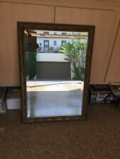Large Vintage Decorative Wall Mirror Framed Bevelled Mirror 41� x 29�