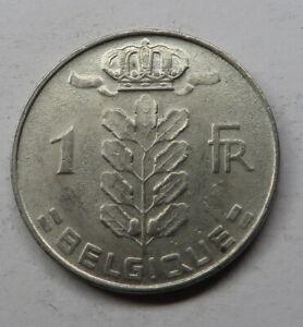 Belgium Franc 1977 Copper-Nickel KM#142.1 UNC