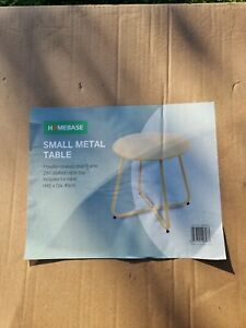 Homebase Small metal table 499079 Yellow powder coated steel frame