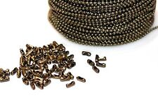 15ft Antique Bronze 1.5mm Ball bead Chain links Expedited Shipping Available