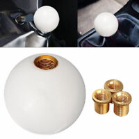 White Car Glossy Round Ball Resin Gear Stick Shift Lever Knob Shifter Universal