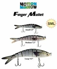 Finger Mullet Swimbait Fishing Lure Kit *Small - Medium - Large* (3 Pack)