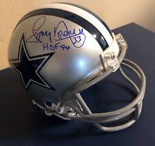 Tony Dorsett HOF 94 Signed Autographed JSA Dallas Cowboys Mini Helmet #1