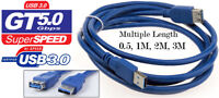 USB 3.0 Extension Extend A Male to Female High Speed Fast Cable Lead For Laptop