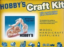 Motorbike Matchstick Model Craft Kit by Hobby's - Motorcycle Kit