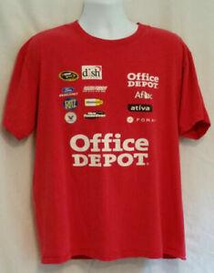 Carl Edwards NASCAR #99 NASCAR Aflac Office Depot Mens Tee T-Shirt Size XL
