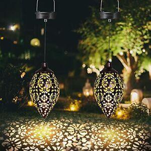 LED Garden Light Outdoor Hollowed Pattern Metal Lamp Wireless Waterproof
