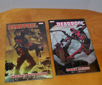 DEADPOOL TPB GRAPHIC NOVEL LOT V1 & V2 MARVEL COMICS SECRET INVASION DARK REIGN