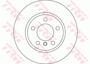 TRW Brake Rotor Pair Front DF4449S fits BMW 1 Series 118 d (E87) 105kw, 118 d...