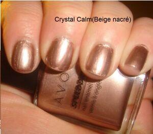 Cristal Calm Laca de Uñas Beige Perlado Secado Rápido De avon