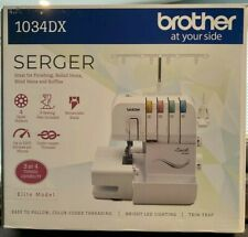 BROTHER 1034DX 3/4 SERGER SEWING MACHINE W/ DIFFERENTIAL FEED POWER PEDAL