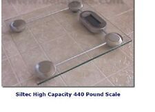 SiltecGS1 Glass Bathroom Scale, Weighing Scale 440 lb capacity x 0.2 lb New