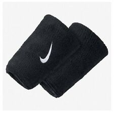 Nike Swoosh Double Width Wristbands - Black - Free P&P