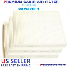 PACK OF 3 CABIN AIR FILTER FOR 2011 - 2018 DODGE DURANGO & JEEP GRAND CHEROKEE