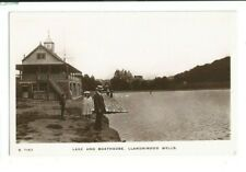 Postcard Llandrindod Wells Lake & Boathouse Kingsway RP Radnor