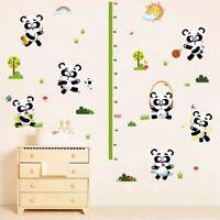 Messlatte Pandabären Kinderzimmer Wandtattoo Wandbild Kind Wandsticker NEU