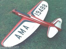 "Model Airplane Plans (UC): Veco Thunderbird I 54"" Stunt (Upright or Radial Mt.)"