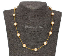 22KT GOLD SOUTHSEA PEARLS CHAIN WOMEN NECKLACE CHAIN CUSTOM SIZE AVAILABLE
