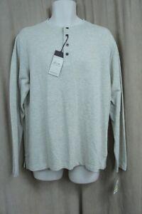 Tasso Elba Island Shirt Sz M Oatmeal Beige Cotton Blend Long Sleeve Performance