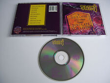 SAINT Too Late for Living CD 1988 VERY RARE OOP ORIG 1st PRESS USA PURE METAL!!!