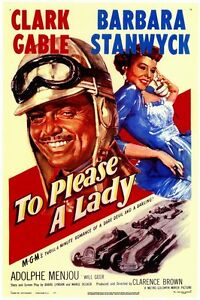 To Please a Lady - 1950 - Barbara Stanwyck Clark Gable Clarence Brown b/w DVD