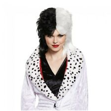 Cruella De Vil Deluxe Adult Wig Disney 101 Dalmations Costume Halloween Prop