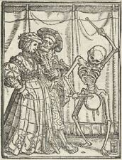 Hans Holbein's Dance of Death 1525 The Lady 7x5 Inch Print