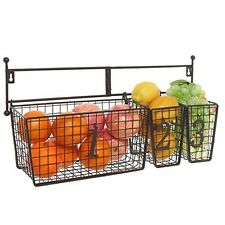 Multipurpose Accessory Organizer Rack Wall Mounted Numbered Storage Basket Set