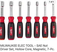 Milwaukee 7 Piece Full Hollow Shaft Cushion Grip Nut Driver Set Metric