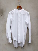 White Collarless Shirt by Tails and the Unexpected 100% cotton