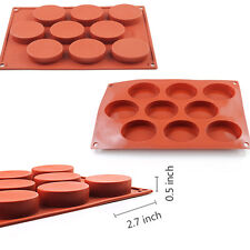 Oval Silicone Cake Chocolate Cookies Baking Mould Soap Muffin Cupcake Mold Tray