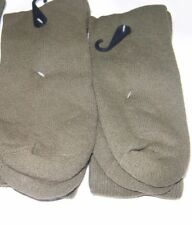 2 Pairs Men US Army Military Issue Anti-Fungal USA Made Boot Socks GREEN 10-13