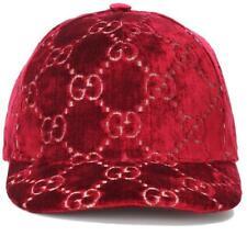 f6e99d0a6694a NEW GUCCI CURRENT BURGUNDY RED VELVET GG CLASSIC BASEBALL CAP HAT 56 S