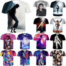 New Fashion Women Men Michael Jackson Print Casual 3D T-Shirt Short Sleeve Tee