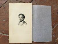 Gravur Porträt Giacomo Leopardi 1880