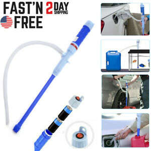 Electric Water Pump Liquid Transfer Gas Oil Siphon Battery Operated Pumps US