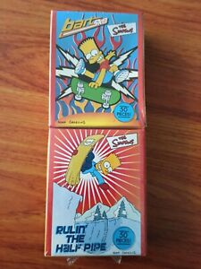 The Simpsons Bart Ultra-Mini Puzzles Surfari and Dinner with Dad Unopened Bart