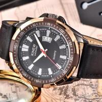 Luxury Men's Sport Waterproof Date Leather Band Quartz Analog Wrist Watches