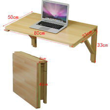 80cm*50cm Burlywood Wall Mount Floating Folding Computer Desk For Home Useful